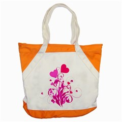 Heart Flourish Pink Valentine Accent Tote Bag