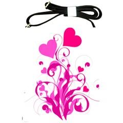 Heart Flourish Pink Valentine Shoulder Sling Bags