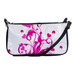 Heart Flourish Pink Valentine Shoulder Clutch Bags