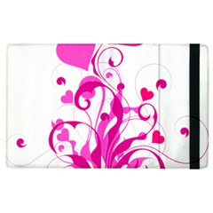 Heart Flourish Pink Valentine Apple Ipad 3/4 Flip Case