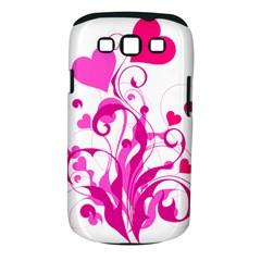 Heart Flourish Pink Valentine Samsung Galaxy S Iii Classic Hardshell Case (pc+silicone)