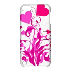 Heart Flourish Pink Valentine Apple Ipod Touch 5 Hardshell Case With Stand