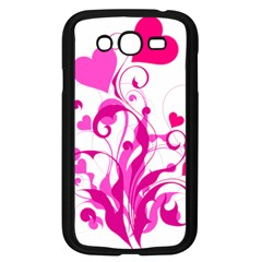 Heart Flourish Pink Valentine Samsung Galaxy Grand Duos I9082 Case (black)