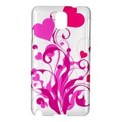 Heart Flourish Pink Valentine Samsung Galaxy Note 3 N9005 Hardshell Case