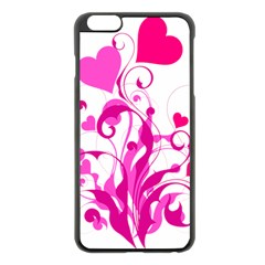 Heart Flourish Pink Valentine Apple Iphone 6 Plus/6s Plus Black Enamel Case