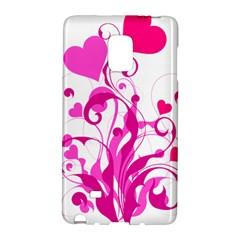 Heart Flourish Pink Valentine Galaxy Note Edge