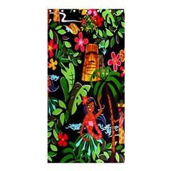 Hawaiian Girls Black Flower Floral Summer Shower Curtain 36  X 72  (stall)