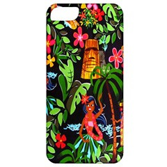 Hawaiian Girls Black Flower Floral Summer Apple Iphone 5 Classic Hardshell Case