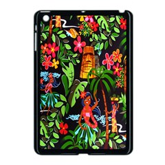 Hawaiian Girls Black Flower Floral Summer Apple Ipad Mini Case (black)