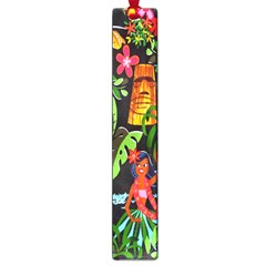 Hawaiian Girls Black Flower Floral Summer Large Book Marks