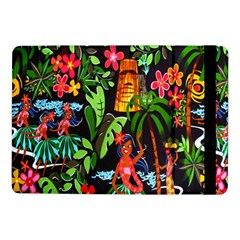 Hawaiian Girls Black Flower Floral Summer Samsung Galaxy Tab Pro 10 1  Flip Case
