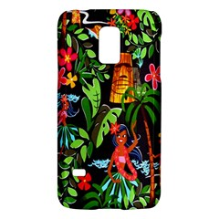 Hawaiian Girls Black Flower Floral Summer Galaxy S5 Mini