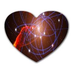 Highest Resolution Version Space Net Heart Mousepads