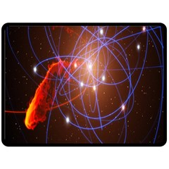 Highest Resolution Version Space Net Double Sided Fleece Blanket (large)