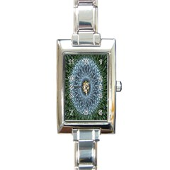 Hipnotic Star Space White Green Rectangle Italian Charm Watch