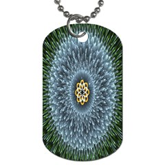 Hipnotic Star Space White Green Dog Tag (one Side)