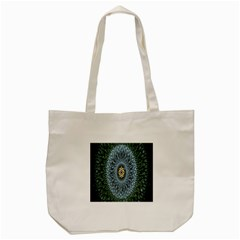 Hipnotic Star Space White Green Tote Bag (cream)