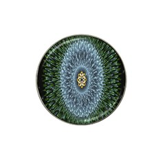 Hipnotic Star Space White Green Hat Clip Ball Marker (4 Pack)