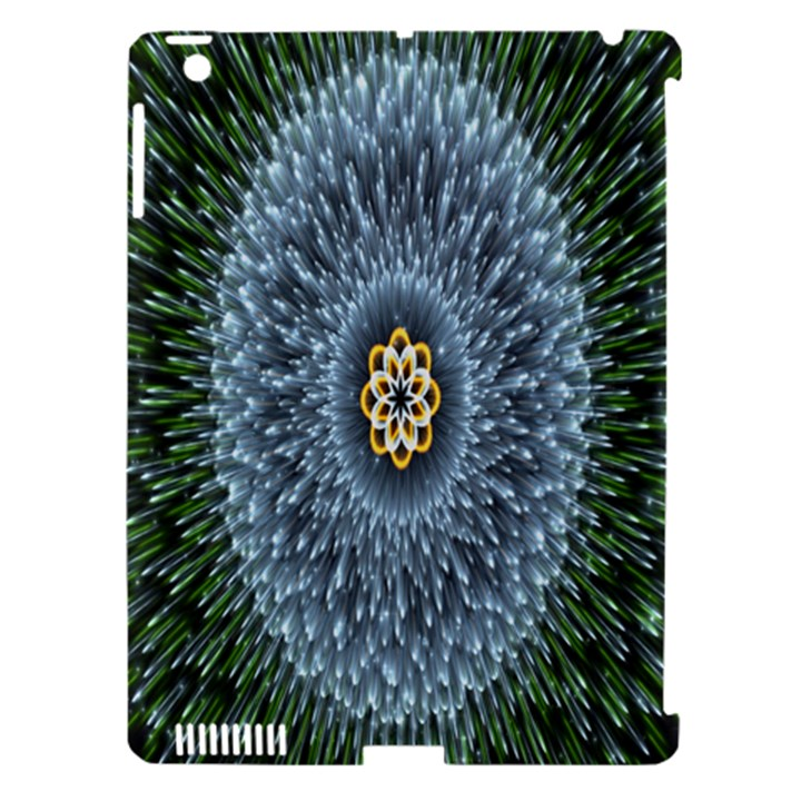 Hipnotic Star Space White Green Apple iPad 3/4 Hardshell Case (Compatible with Smart Cover)