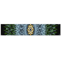 Hipnotic Star Space White Green Flano Scarf (large)
