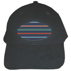 Horizontal Line Blue Green Black Cap