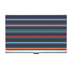 Horizontal Line Blue Green Business Card Holders