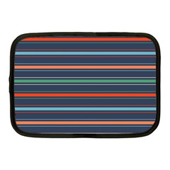 Horizontal Line Blue Green Netbook Case (medium)