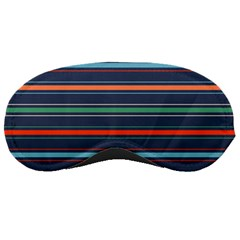 Horizontal Line Blue Green Sleeping Masks