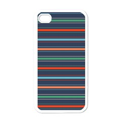 Horizontal Line Blue Green Apple Iphone 4 Case (white)