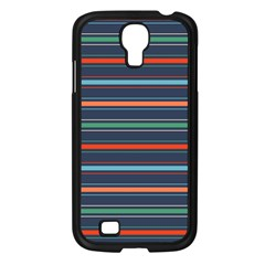 Horizontal Line Blue Green Samsung Galaxy S4 I9500/ I9505 Case (black)