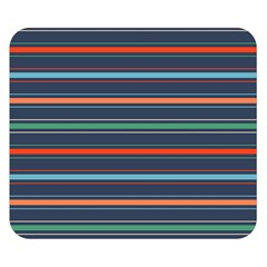 Horizontal Line Blue Green Double Sided Flano Blanket (small)