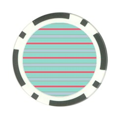 Horizontal Line Blue Red Poker Chip Card Guard