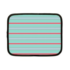 Horizontal Line Blue Red Netbook Case (small)