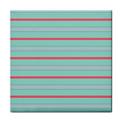 Horizontal Line Blue Red Face Towel
