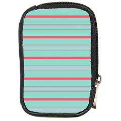 Horizontal Line Blue Red Compact Camera Cases