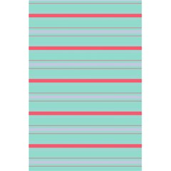 Horizontal Line Blue Red 5 5  X 8 5  Notebooks