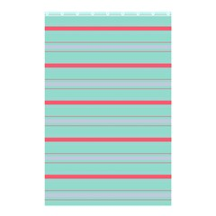 Horizontal Line Blue Red Shower Curtain 48  X 72  (small)