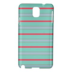 Horizontal Line Blue Red Samsung Galaxy Note 3 N9005 Hardshell Case