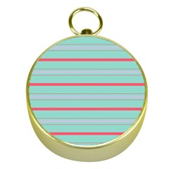 Horizontal Line Blue Red Gold Compasses