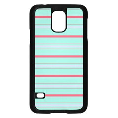 Horizontal Line Blue Red Samsung Galaxy S5 Case (black)