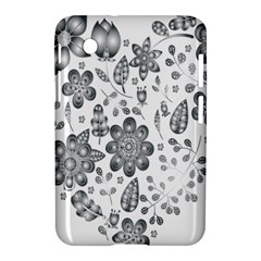 Grayscale Floral Heart Background Samsung Galaxy Tab 2 (7 ) P3100 Hardshell Case