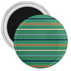 Horizontal Line Green Red Orange 3  Magnets