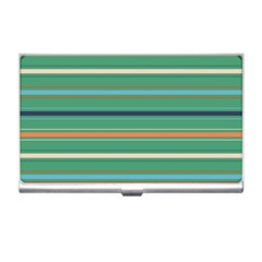 Horizontal Line Green Red Orange Business Card Holders