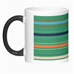 Horizontal Line Green Red Orange Morph Mugs