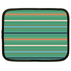 Horizontal Line Green Red Orange Netbook Case (xxl)