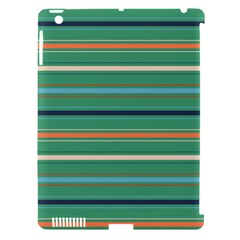 Horizontal Line Green Red Orange Apple Ipad 3/4 Hardshell Case (compatible With Smart Cover)