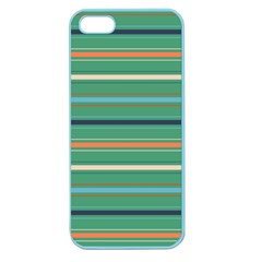 Horizontal Line Green Red Orange Apple Seamless Iphone 5 Case (color)