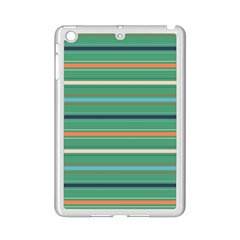 Horizontal Line Green Red Orange Ipad Mini 2 Enamel Coated Cases