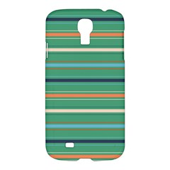 Horizontal Line Green Red Orange Samsung Galaxy S4 I9500/i9505 Hardshell Case