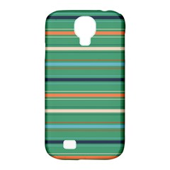 Horizontal Line Green Red Orange Samsung Galaxy S4 Classic Hardshell Case (pc+silicone)